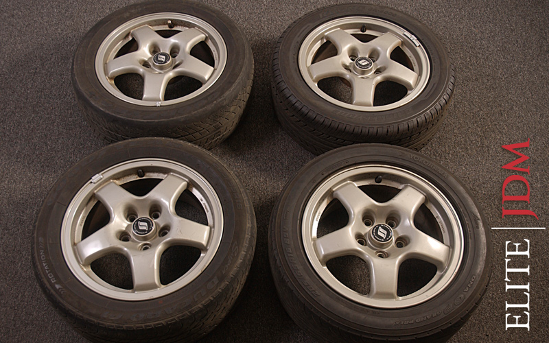 OEM NISSAN SKYLINE GTS WHEEL SET
